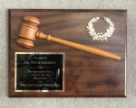 9 x 12 Gavel plaque Action Awards' Exclusive!