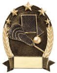 5 Star Oval -Lacrosse Generic Small Resin Awards